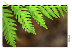Carry-all Pouch featuring the photograph Closeup Macro Of Green Leaves Show Textured Of The Organs With S by Jingjits Photography