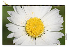 Closeup Of A Beautiful Yellow And White Daisy Flower Carry-all Pouch by Tracey Harrington-Simpson