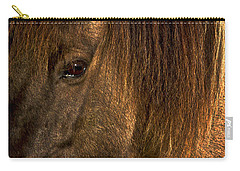 Closeup Of An Icelandic Horse #2 Carry-all Pouch by Stuart Litoff