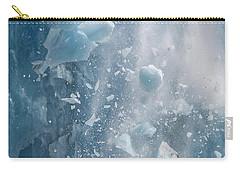 Closeup Of Dawes Glacier Calving Carry-all Pouch