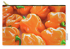 Closeup Of Fresh Chillies Habanero Orange Carry-all Pouch