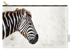Closeup Zebra Horizontal Banner Carry-all Pouch