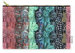 Carry-all Pouch featuring the digital art Cloth Craft Work Flower Patterns Made Of Tshirt Sleeves Fashion Couture Christmas Birthday Holidays  by Navin Joshi