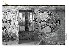 Clothcraft In Black And White Carry-all Pouch