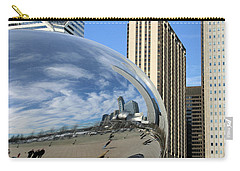 Cloud Gate Reflections Carry-all Pouch by Kristin Elmquist