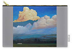 Carry-all Pouch featuring the painting Cloud On The Rise by Gary Coleman