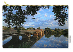 Carry-all Pouch featuring the photograph Cloud Reflections On The Yakima River by Lynn Hopwood