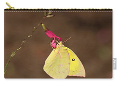 Clouded Sulphur Butterfly On Pink Wildflower Carry-all Pouch