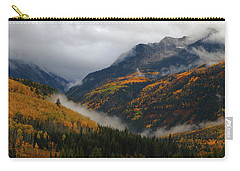 Clouds And Fog Encompass Autumn At Mcclure Pass In Colorado Carry-all Pouch