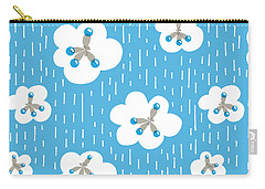 Clouds And Methane Molecules Pattern Carry-all Pouch