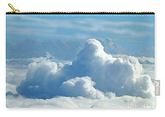 Carry-all Pouch featuring the digital art Clouds And Sky M2 by Francesca Mackenney