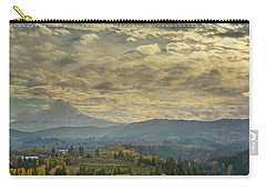 Clouds And Sun Rays Over Mount Hood And Hood River Oregon Carry-all Pouch
