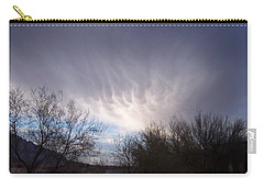 Carry-all Pouch featuring the painting Clouds In Desert by Mordecai Colodner
