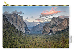 Clouds Over A Valley, Yosemite Valley Carry-all Pouch by Panoramic Images