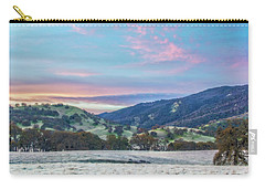 Clouds Over Frosty Landscape Carry-all Pouch