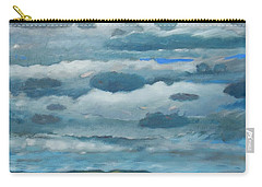Carry-all Pouch featuring the painting Clouds Over South Bay by Gary Coleman