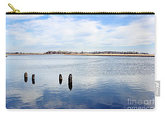 Carry-all Pouch featuring the photograph Clouds Over The Mullica River by Colleen Kammerer