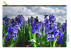 Clouds Over The Purple Hyacinth Field Carry-all Pouch by Mihaela Pater