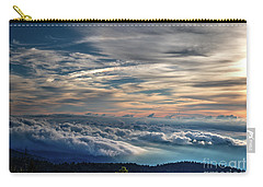 Carry-all Pouch featuring the photograph Clouds Over The Smoky's by Douglas Stucky