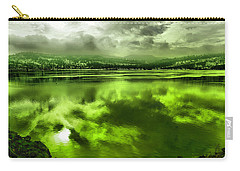 Carry-all Pouch featuring the photograph Clouds Reflecting Off The Columbia  by Jeff Swan