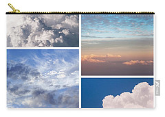 Carry-all Pouch featuring the photograph Cloudscapes Collage by Jenny Rainbow