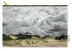 Carry-all Pouch featuring the photograph Cloudy Beach By Kaye Menner by Kaye Menner