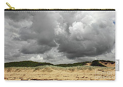 Carry-all Pouch featuring the photograph Cloudy Beach II By Kaye Menner by Kaye Menner