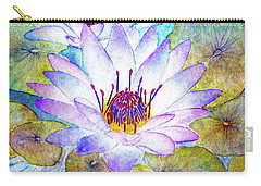 Cloudy Blue Lilies Carry-all Pouch