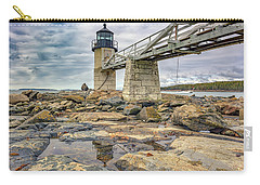 Carry-all Pouch featuring the photograph Cloudy Day At Marshall Point by Rick Berk