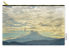 Cloudy Day Over Mount Hood At Hood River Oregon Carry-all Pouch