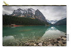 Cloudy Fall Day At Lake Louise Carry-all Pouch