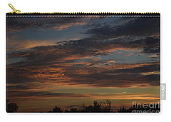 Carry-all Pouch featuring the photograph Cloudy Kansas Evening by Mark McReynolds