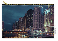 Cloudy Night Chicago Carry-all Pouch
