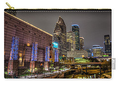 Carry-all Pouch featuring the photograph Cloudy Night In Houston by David Morefield