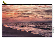 Carry-all Pouch featuring the photograph Cloudy Sunrise At The Beach by John McGraw