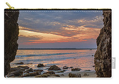 Cloudy Sunset At Low Tide Carry-all Pouch