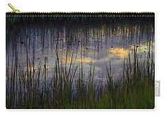 Carry-all Pouch featuring the photograph Cloudy Tide Pool by Laura Ragland