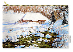 Clubhouse In Winter Carry-all Pouch by Sher Nasser