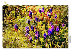 Clump Of Blue Grape Hyacinth Carry-all Pouch