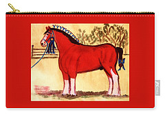 Clydesdale Horse Blue Ribbon Stallion Carry-all Pouch
