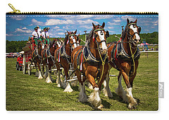 Clydesdale Horses Carry-all Pouch by Robert L Jackson