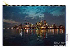 Cn  Tower And Toronto Down Town Water Front Beauty At Night Full Blast Photo Carry-all Pouch