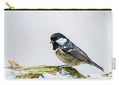 Carry-all Pouch featuring the photograph Coal Tit's Profile by Torbjorn Swenelius