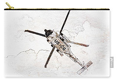 Carry-all Pouch featuring the photograph Coast Guard Helicopter by Aaron Berg