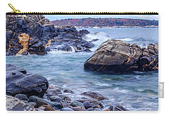 Carry-all Pouch featuring the photograph Coast Of Maine In Autumn by Doug Camara