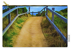 Carry-all Pouch featuring the photograph Coast Path by Perry Webster