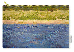 Carry-all Pouch featuring the painting Coastal Dunes - Square by Michelle Calkins