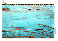 Coastal Escape I Textured Abstract Carry-all Pouch