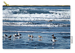 Carry-all Pouch featuring the photograph Coastal Fly-in by Nick Kloepping