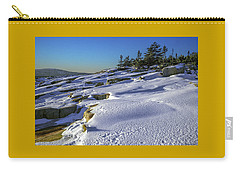 Coastal Snowscape At Schoodic Point Carry-all Pouch